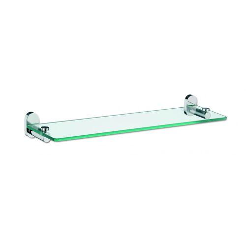 Kela badkamerplank Lucido 50 x 14 cm glas transparant - Transparant,Zilver