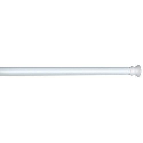 Wenko douchegordijnstang 2 x 110 185 cm aluminium wit - Wit