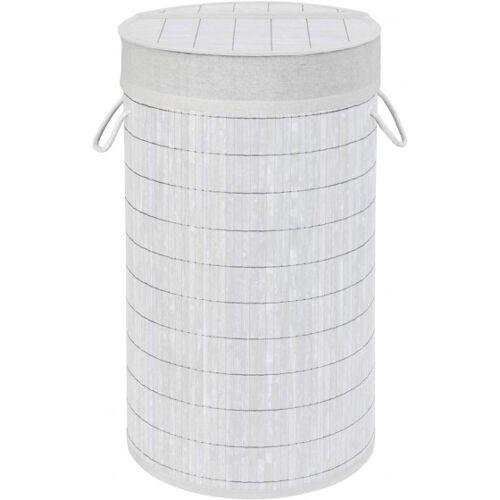 Wenko wasmand bamboe 55 liter 35 x 60 cm bamboe wit - Wit
