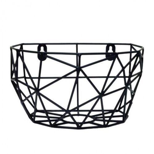 Tak Design hangmand Thanwa 16 x 10 cm staal zwart M - Zwart