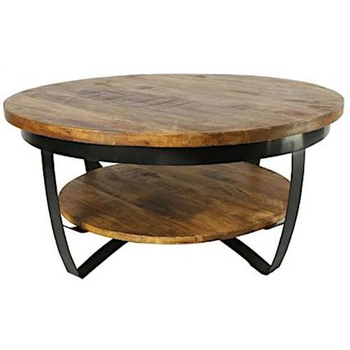 Countryfield salontafel Bombay L 90 x 43 cm hout naturel/zwart