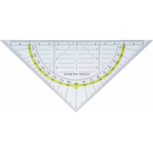 Alco geodriehoek flexibel 16 cm transparant