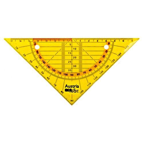 Aristo geodriehoek Geo Flex flexibel 16 cm geel