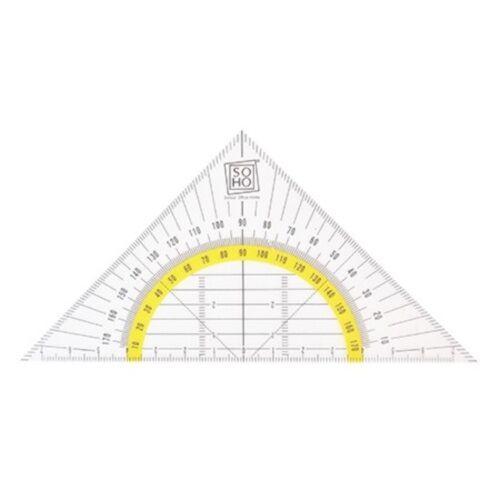Soho flexibele geodriehoek 16 cm transparant