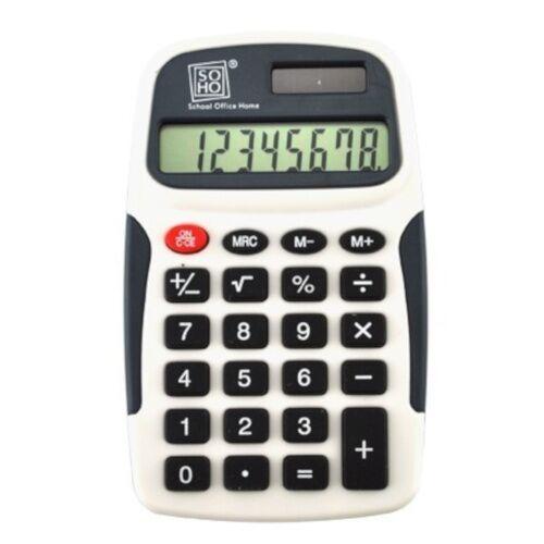Soho rekenmachine 7 x 11,5 cm zwart/wit - Zwart,Wit