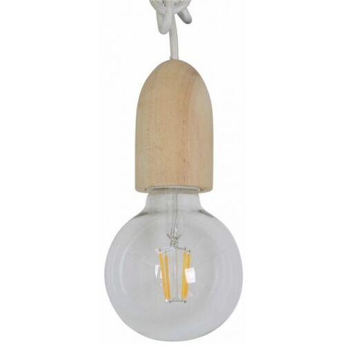 Rox Living decoratieve lamp 8 cm E27 glas bruin/wit