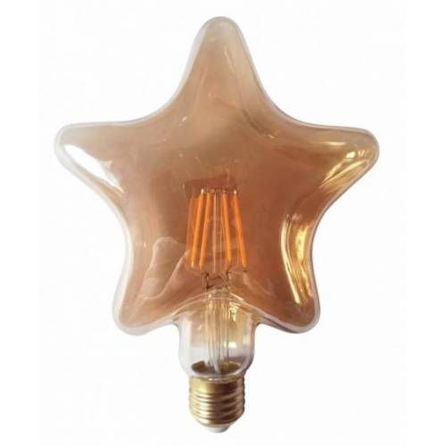 Rox Living decoratieve led lamp 4W ster 16,5 cm glas bruin