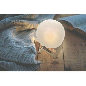 National Geographic decoratielamp Maan 3D 15 cm wit - Wit,Naturel