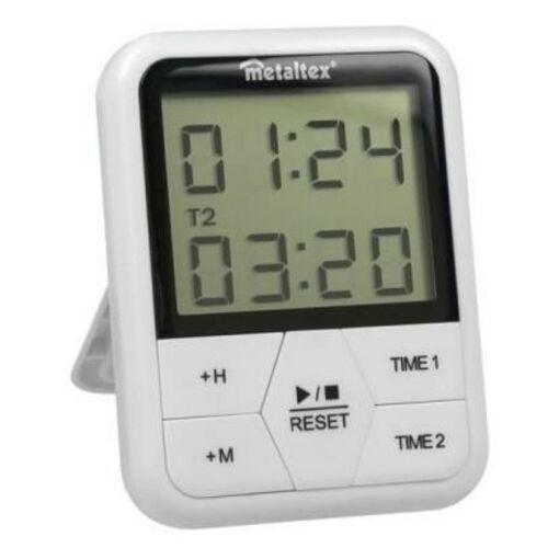 Metaltex digitale timer magnetisch 11 x 8 cm wit - Wit