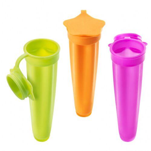 Metaltex ijsvormen 20 cm siliconen roze/oranje/groen 3 stuks - Multicolor