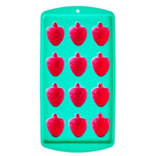 Yes Studio ijsblokjesvorm bessen 22 x 11,2 cm rood/groen - Rood,Groen