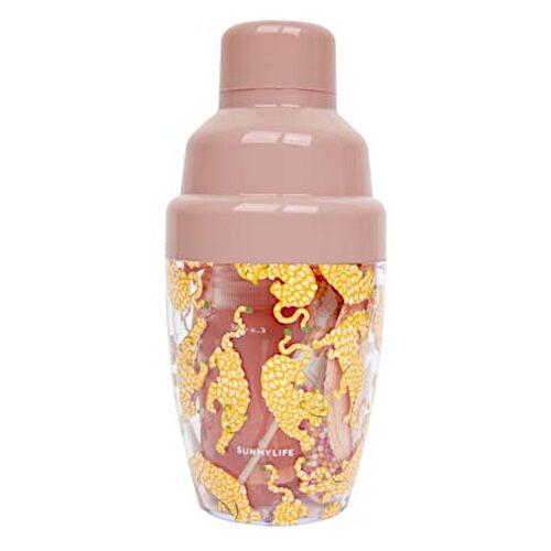 Sunnylife cocktailset 6,5 x 14 cm polystyreen roze 9 delig