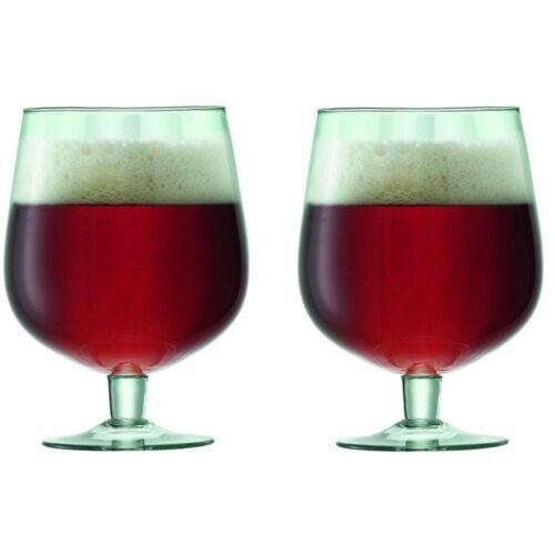 L.S.A. bierglazen Mia 750 ml 10,8 x 15 cm gerecycled glas groen - Transparant,Groen
