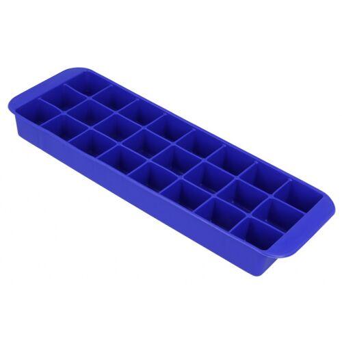 Metaltex ijsblokjesvorm 26 x 9 cm rubber blauw - Blauw