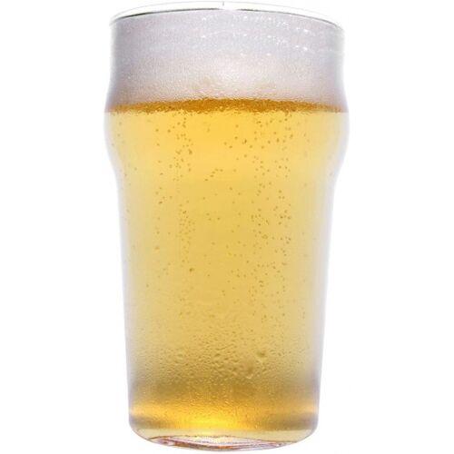 thumbsUp! bierglas half 350 ml 15 x 9 cm glas transparant - Transparant