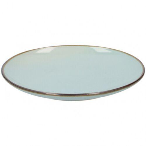 TOM dessertbord 21,5 x 2,8 cm keramiek mintblauw - Mintblauw