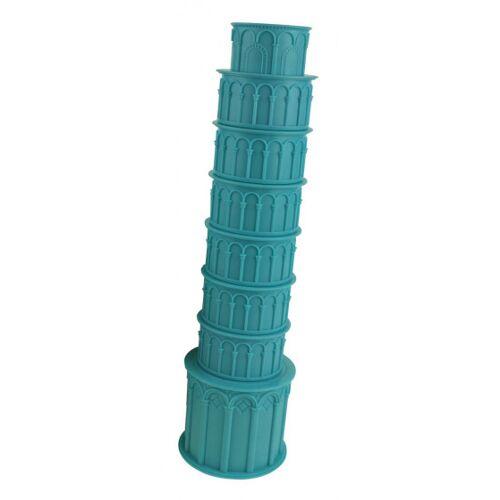 United Entertainment bekerset Toren van Pisa 8 cm ABS blauw 7 stuks - Blauw