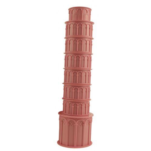 United Entertainment bekerset Toren van Pisa 8 cm ABS roze 7 stuks - Roze