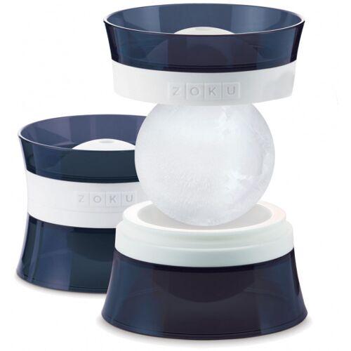 Zoku ijsvorm bal 118 ml polypropyleen blauw 2 stuks - Blauw