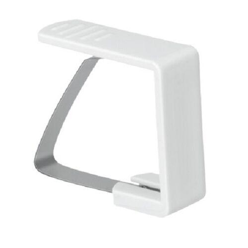 Metaltex tafelkleedklemmen 5,1 x 4,3 cm wit 4 stuks