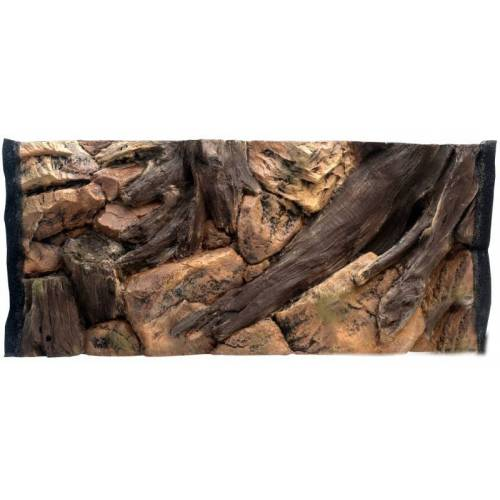 CeramicNature achterwand aquarium 1,96 cm bruin