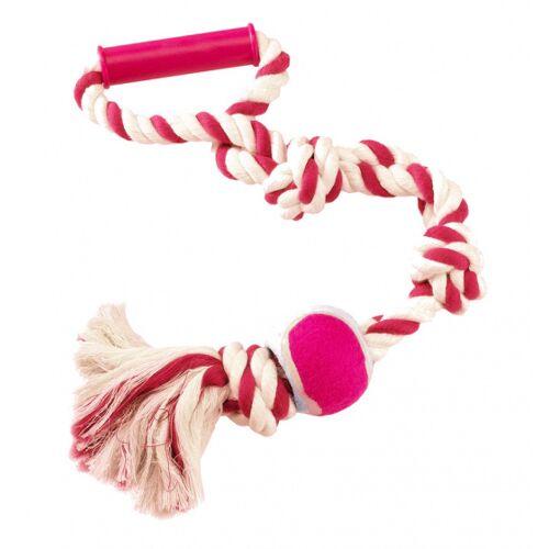Ferplast trektouw hond 60 cm katoen rood/wit