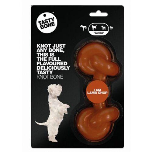 Tasty Bone kauwspeelgoed T Bone Lam 16,5 cm nylon bruin