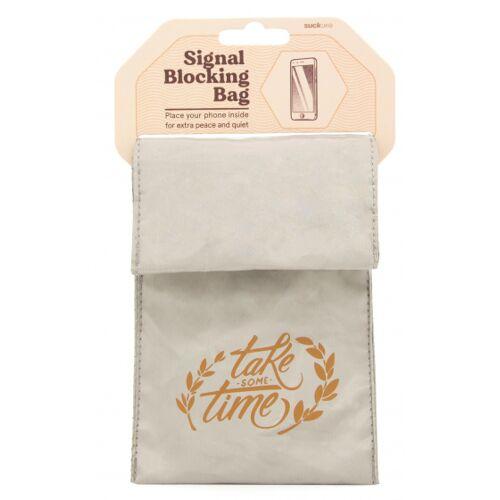 Suck UK telefoonhoes signaal blokkerend 16,5 cm textiel crème