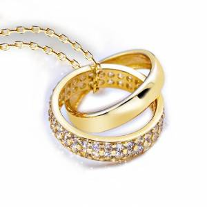 Van Amstel Ketting Double Ring Gold