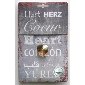 Steengoed Strass hart goud (1 stuks)