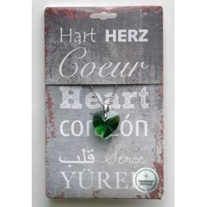 Steengoed Strass hart robijn - groen (1 stuks)