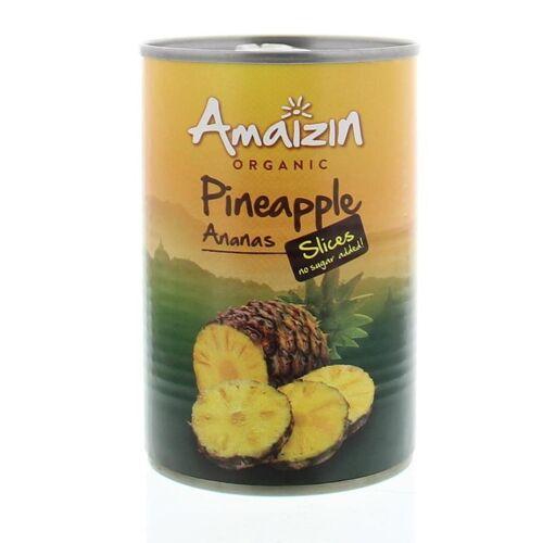 Amaizin Ananasschijven op sap (400 gram)