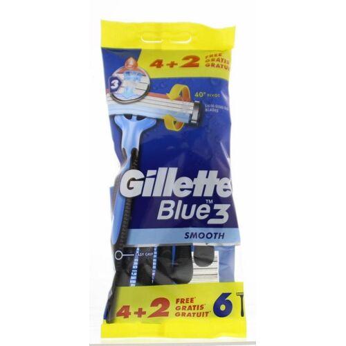 Gillette Blue 3 wegwerpmesjes (6 stuks)