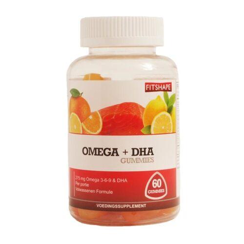 Fitshape Omega + DHA gummies (60 gummies)