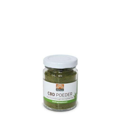 Mattisson CBD poeder RAW gevriesdroogd hennepblad sap (20 gram)