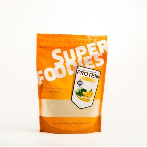 Superfoodies Gefermenteerde bruine rijst eiwitpoeder banaan (500 gram)