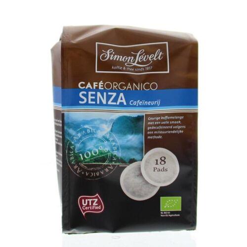Simon Levelt Cafe organico senza cafeinevrij (18 pads)