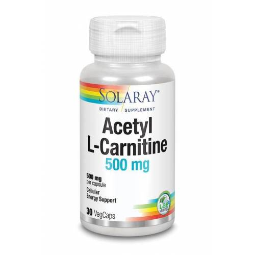 Solaray Acetyl L-carnitine 500 mg (30 vcaps)