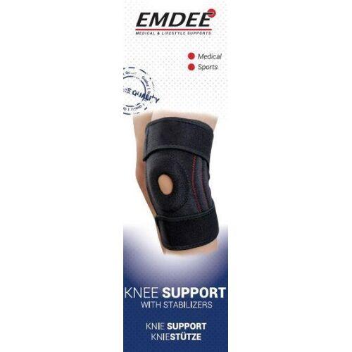 Emdee Knieband met stabilisatoren zwart MD2255 (1 stuks)