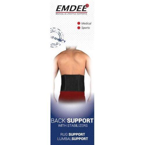Emdee Rugband met stabilisatoren zwart (1 stuks)