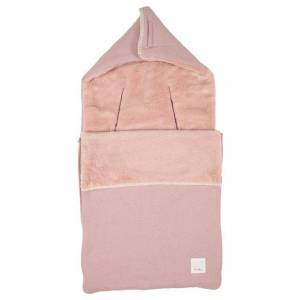 Koeka Baby Voetenzak Runa Teddy 3/5-puntsgordel - Old Pink