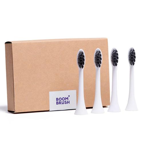 Boombrush Sonische Opzetborstels Wit -  4 stuks