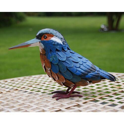 Ijsvogel in metaal 30 x 10 x 18 cm