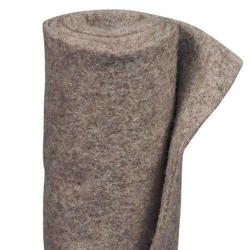 Winterbeschermingsmat schapenwol grijs