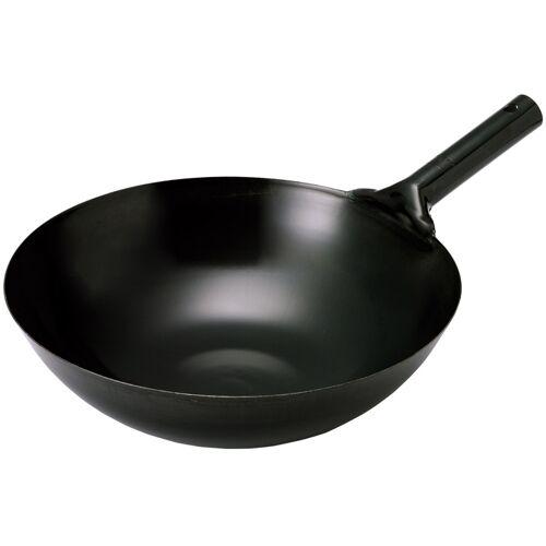 Tokyo Design Studio Zwarte Roestvrij stalen wok - 36cm