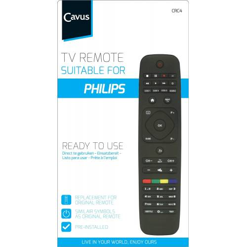 Cavus TV afstandsbediening voor Philips Afstandsbediening