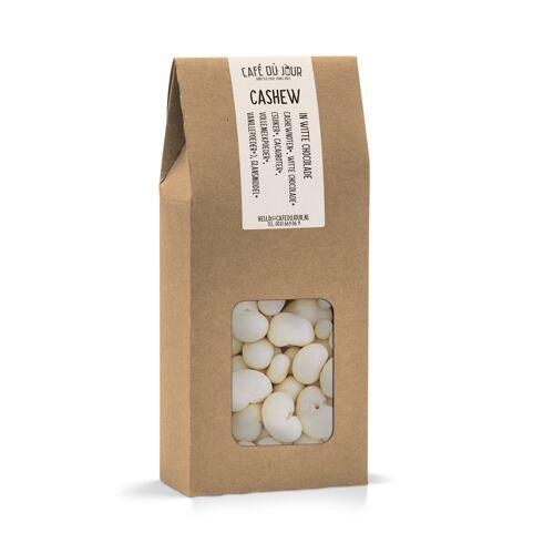 Café du Jour Cashewnoten in witte chocolade 250 gram