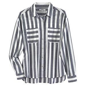 Aigle Dames blouse Eloar - blauw-wit - XS