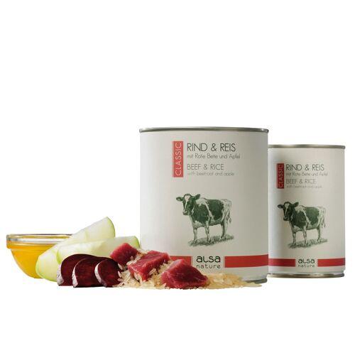 alsa-nature Rund & Rijst met rode bieten & appel - - 12 x 800 g