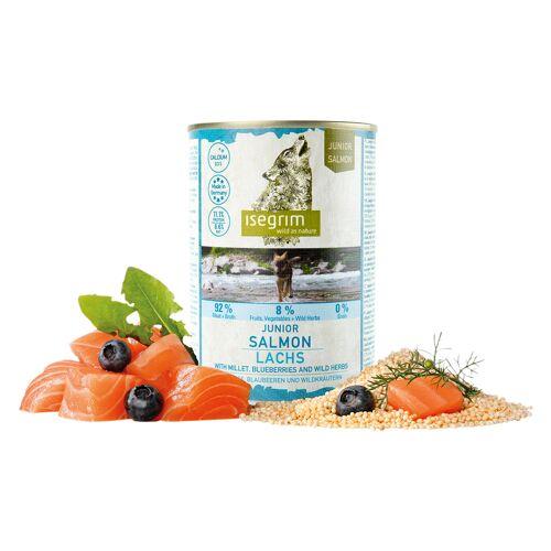isegrim® Junior RIVER Zalm met gierst, bosbessen en wilde kruiden - - 12 x 800 g